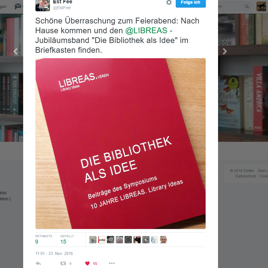 Die Bibliothek als Idee - Cover