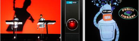 Symbolbild zum CfP: Verschiedene Roboter aus der Popkultur